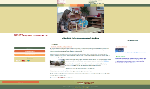 thumbnail of the home page of Children Today Montessori Learning Center