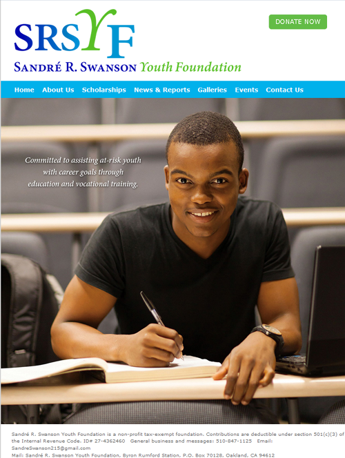Home Page of the Sandre Swanson Youth Foundation